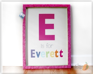 E is for Everett - big rainbow