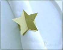 Gold Star napkin rings