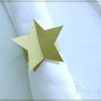 Gold Star napkin rings
