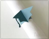 graduation cap paper napkin rings graduation party decoration