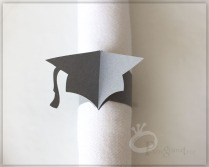 graduation cap paper napkin rings graduation party decoration