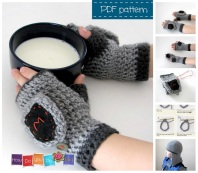 fingerless mittens for boy crochet pattern