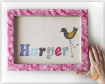 Harper name sign with bird