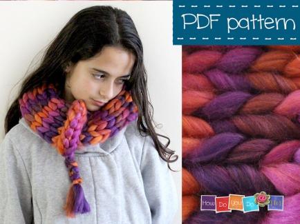 chunky yarn scarf pattern