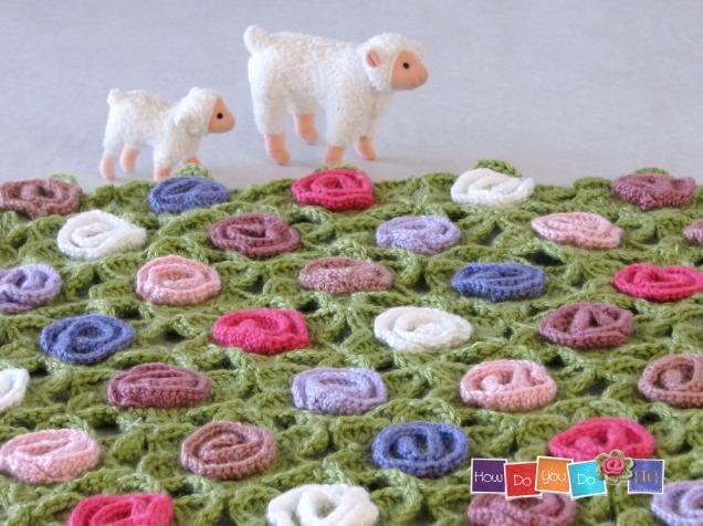 floral crochet blanket pettern